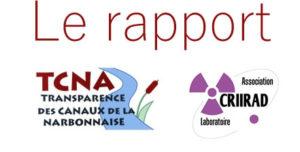 Communiqué de presse et Rapport CRIIRAD Analyses de radioactivité TAURAN NARBONNE 2017