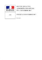 Arrêté Préfectoral d'autorisation d'exploiter 08/11/2017