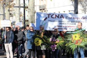 Narbonne : 800 participants à la grande marche funèbre contre Orano