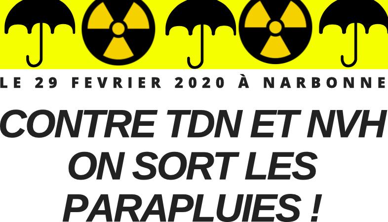 LE 29 FEVRIER 2020 À NARBONNE CONTRE TDN ET NVH ON SORT LES PARAPLUIES