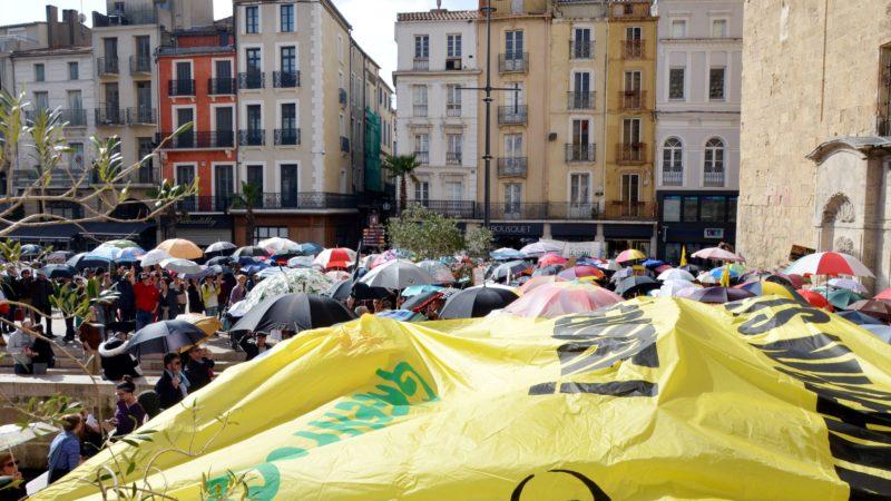 Narbonne : un parterre de parapluies contre les projets d'Orano-Malvési