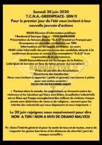 Réunion d'information sur TDN le SAMEDI 20 JUIN à 10h à NARBONNE, VENEZ VOUS INFORMER !