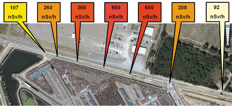 Radiations à la clôture de Comurhex Malvesi /CRIIRAD