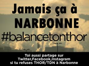 TCNA Manifestation contre THOR/TDN le 5 Novembre 2017 à Narbonne