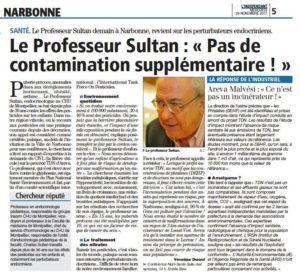 Le Professeur SULTAN s'exprime sur TDN